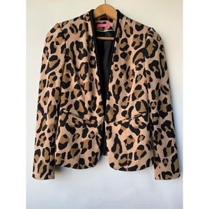 Size 2, Isaac Mirahi, beautiful leopard print blazer
